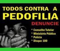 Campanha contra a pedofilia.