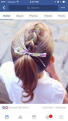 Pull-through braid into ponytail