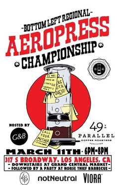 World AeroPress Championship Rad Coffee, Aeropress Coffee, Coffee And Books, French Press, Barista, Posters, Champs, Bbc, Creativity