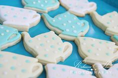 tea party cookies made by sugarcakes