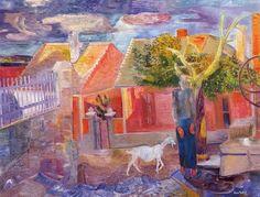 Jeno Paizs Goebel | Paizs-Goebel, Jenő - Courtyard - Other/Unknown art movement - Oil on ...