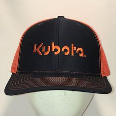 e3f450009a3 Vintage Kubota Lawn Mowers Snapback Hat Dad Cap Men Farm Tractor Equipment Black  Orange Mesh Trucker Hats For Men Gifts T27 AG8051