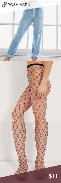 Wide net fishnet stockings Keep your style up to date with these wide cut fishnet tights by Out From Under. Our favorite new layering trick, paired with torn up denim that shows off the mesh for a new take on an old school look we love.  Content + Care - Nylon, spandex - Hand wash - Imported 💖💖💖💖10$ or free with bundle purchase of 11$ or more :) Urban Outfitters Other