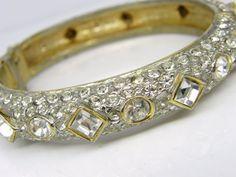 Rhinestone Encrusted Clamp Bracelet Gold от DianasChicBoutique