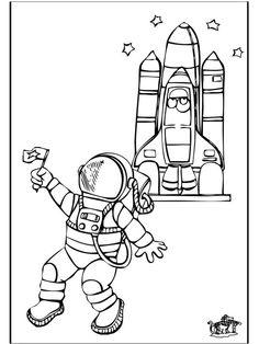 malvolage mais  | Allerhand Ausmalbilder / Malvorlagen Raumfahrt / Astronaut 2: