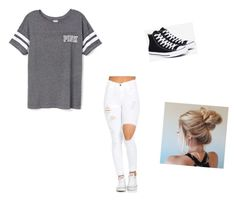 """⚡️⚡️"" by alejandra-martinez-738 on Polyvore featuring Victoria's Secret and Converse"