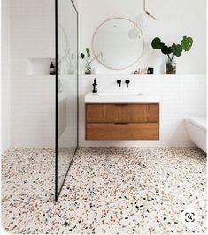 Loft Bathroom, Upstairs Bathrooms, Laundry In Bathroom, Master Bathroom, Bathroom Design Small, Bathroom Interior Design, Terrazo, Bathroom Inspiration, Shower Screen