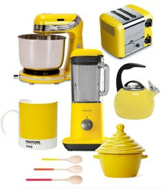 All the gadgets you need for a beautiful, bright yellow kitchen