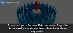 From startups to Fortune 500 companies, Bugcutter is the most visual way for teams to collaborate on any project. #cloudBased #software #teamCollaboration