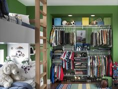 A Boy's Closet for Every Age : Interior Remodeling : HGTV Remodels