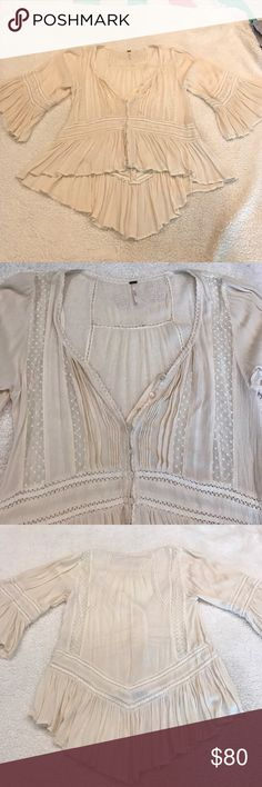 Selling this Free people embroidered blouse on Poshmark! My username is: sammlost. #shopmycloset #poshmark #fashion #shopping #style #forsale #Free People #Tops