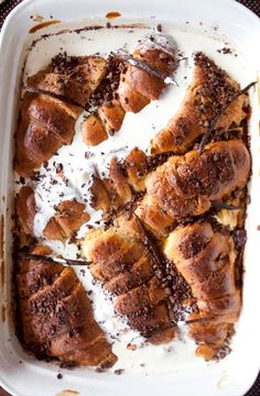 Easy Chocolate Croissant Bread and BUtter Pudding. Nommy Nommy Nommy!!