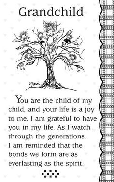 """CHILD OF MY CHILD"". I don't have Grandchildren yet, but I thought this was too beautiful not to post."