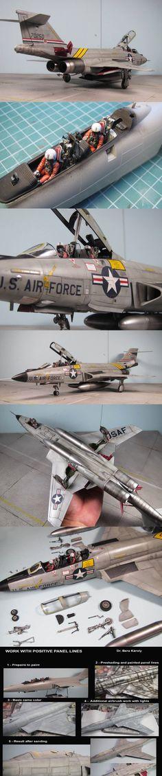 Model of F-101 Voodoo. Very nice, sleek work.