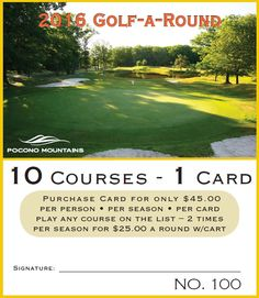 A #PoconoMtns Golf-A-Round Card gets you the best deal that you could imagine! Seeing this in your Easter basket would be a hole-in-one!