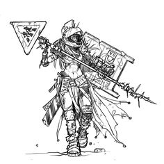 An alternate, post-apocalyptic version of a Roman Gladiator for a past Character Design Challenge : alternativeart Character Drawing, Character Concept, Character Design, Character Ideas, Character Sketches, Character Portraits, Concept Art, Apocalypse Art, Apocalypse Survival