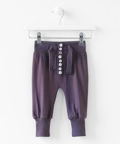 Purple Polly Retro Jogger Leggings - Infant