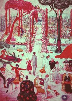 "Florine Stettheimer's ""Sunday Afternoon in the Country"" c.1917"