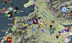 A detail from the interactive Google map of the Game of Thrones world. Photograph: quartermaester.info