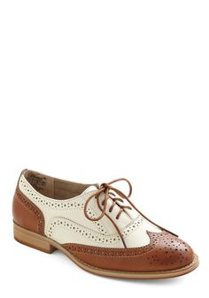 Talking Picture Flat, #ModCloth.  Just got the last pair of these.  Not my usual style, but for some reason I love the look of them.