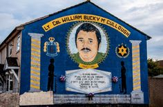 "Mural depicting William ""Bucky"" McCullough who died in the Troubles in Northern Ireland"