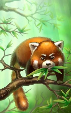 Panda Art, Comics Universe, Animal Wallpaper, Leaf Art, Art Pictures, Illustrators, Cute Animals, Wild Animals, Illustration Art