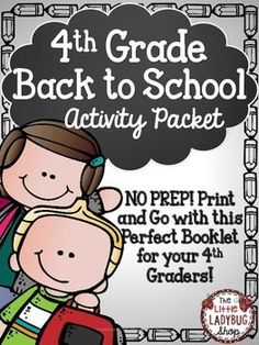 Back To School Activity Packet {4th Grade- NO PREP} | Back To School |4th Grade Activity | No Prep | First Day of School |Beginning of Year ActivitiesThis Back to School activity packet is perfect for your 5th graders as they start back to school! The first few days of school are so hectic, why not make your time valuable and manageable!