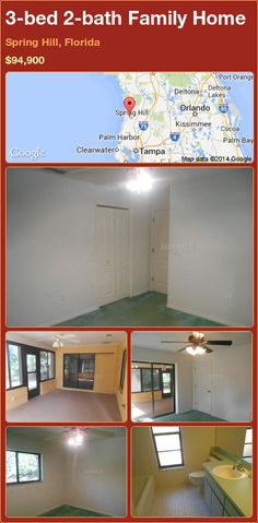 3-bed 2-bath Family Home in Spring Hill, Florida ►$94,900 #PropertyForSale #RealEstate #Florida http://florida-magic.com/properties/84099-family-home-for-sale-in-spring-hill-florida-with-3-bedroom-2-bathroom