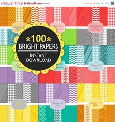 100 Bright Papers all by INSTANT Download. Sweet huh?