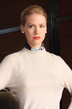 Betty Draper, Mad Men (2010); Cashmere. Silk. Pearls.