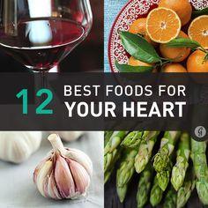 12 Best Foods for Your Heart Health via @greatist  #healthiestlife