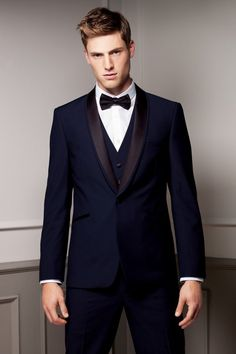 New Arrival blue tuxedos for men wedding suits men suits groom wedding suits groomsmen suits (Jacket+Pants+Vest+Bow) Groomsmen Suits, Groom Attire, Mens Suits, Groom Wear, Groom Dress, Groom Tuxedo, Tuxedo For Men, Tuxedo Suit, Tuxedo Wedding