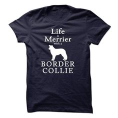 Awesome Tee Border Collie sf0215 T shirts
