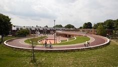 The Dafne Schippers Bridge is ingeniously integrated into a school building and a small neighborhood park. Bureau B+B worked closely with the architects (Next Architects and Rudy Uytenhaak + partners) to forge all the different elements together into a coherent   Read More