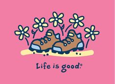 Life is Good - Mountain Girl Hiking Quotes, The Mountains Are Calling, Happy Trails, Adventure Quotes, Nature Quotes, Happy Campers, Cool Words, Blog Tips, Life Is Good