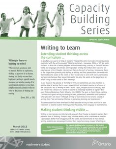 This article made me think differently about the writing process. It discusses the value of 'writing to learn', which is typically less of a focus than learning to write. Although I often read about engaging students in reading tasks, I have read little on motivating students to write. Writing-to-learn tasks can reduce aversion to writing and boost self-confidence while engaging students in informal writing tasks to explore their thinking, for assessment-for-learning and to guide…