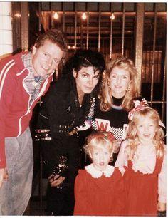 "Michael Jackson  on the ""Bad"" music video shoot with Paris, Nicky, Kathy, & Rick Hilton. (1987) @carlamartinsmj"