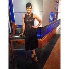 Jaque Reid rocking this beautiful black dress by Donna Morgan @donnamorgannyc  @jacquereid #womensfashion #businesscasual #studiostyle #newyorklivetv  #newyork #NBC