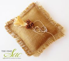 Wedding Burlap Ring Bearer Pillow  Eco Burlap by TheFindSac, $22.00