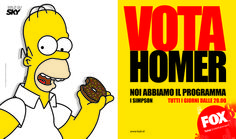 """Vota Homer""  - Yes I AM per Fox Fox Tv, Smile, Urn"
