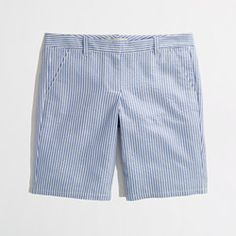 "Factory 10"" seersucker bermuda short"