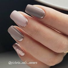 Rose gold jewelry, nail polish, shoes and more ideas on how to wear this color . - Rose gold jewelry, nail polish, shoes and more ideas on how to wear this color ★ … - Simple Wedding Nails, Wedding Nails For Bride, Bride Nails, Simple Nails, Sparkle Wedding, Gold Wedding, Wedding Manicure, Gold Sparkle, Hair Wedding