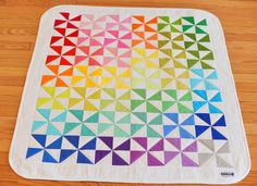 Rainbow pinwheel (+ note quilting)