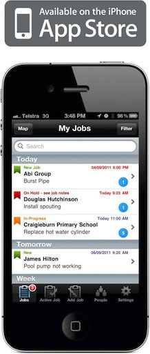 GEOOP is a job dispatch and mobile workforce management system that uses hardware you probably already own to show the status and location of your jobs and staff* in real time.  Used by the UC Student Volunteer Army during #eqnz http://www.readwriteweb.com/archives/eqnz_social_media_response_to_the_christchurch_ear.php   Platform: iPhone, Android. Smartphones _ Windows,Nokia, Blackberry