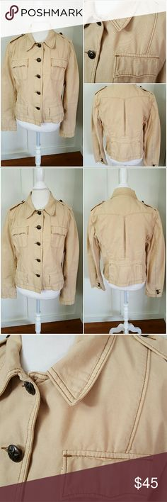 Ralph Lauren XL Beige Button Down Jean Jacket Ralph Lauren Polo Jeans XL beige jean jacket. Long sleeves. Button down. Four front pockets. Pre-owned and in good condition. 100% Cotton Polo by Ralph Lauren Jackets & Coats Jean Jackets