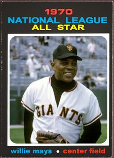 1971 Topps Willie Mays All-Star, Baseball Cards That Never Were, San Francisco Giants