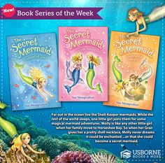 http://u3799.myubam.com/p/5518/secret-mermaid-enchanted-shell-book-1 . We are loving reading this one aloud. Molly and all her mermaid friends are brave, caring and confident.