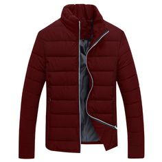41.69$  Buy here  - New Style Men Parkas Fashion Style Good Quality Mlae Tops Winter Casual Wear Stand Collar Jackets Slim Looking Comfortable Cozy