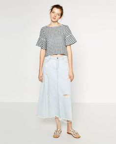 ZARA - WOMAN - TOP WITH BACK FRILL