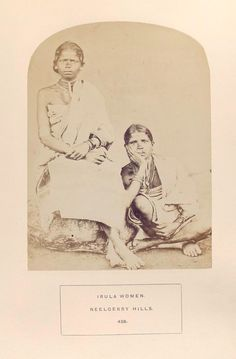 Irula women, Nilgiri Hills. 1872 The people of India : A series of photographic illustrations